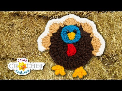Thanksgiving Turkey Applique – Crochet Tutorial & Pattern