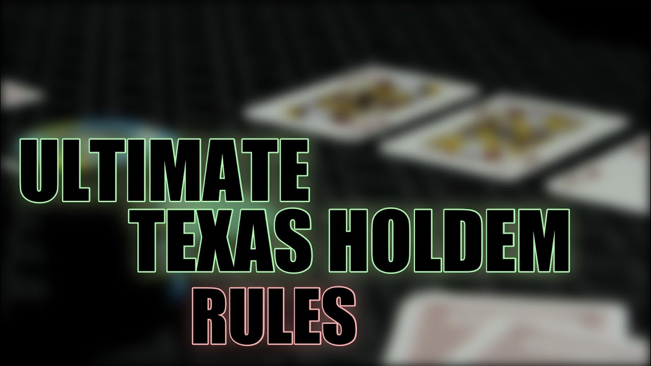 how to play ultimate texas hold em at the casino