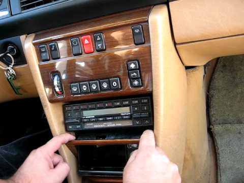 How to Remove Radio / Cassette from 1987 Mercedes 300E 300SE 500SE for Repair.