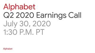 Alphabet 2020 Q2 Earnings Call