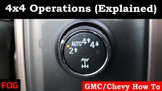 GMC/Chevy 4x4 Operations (Explained)