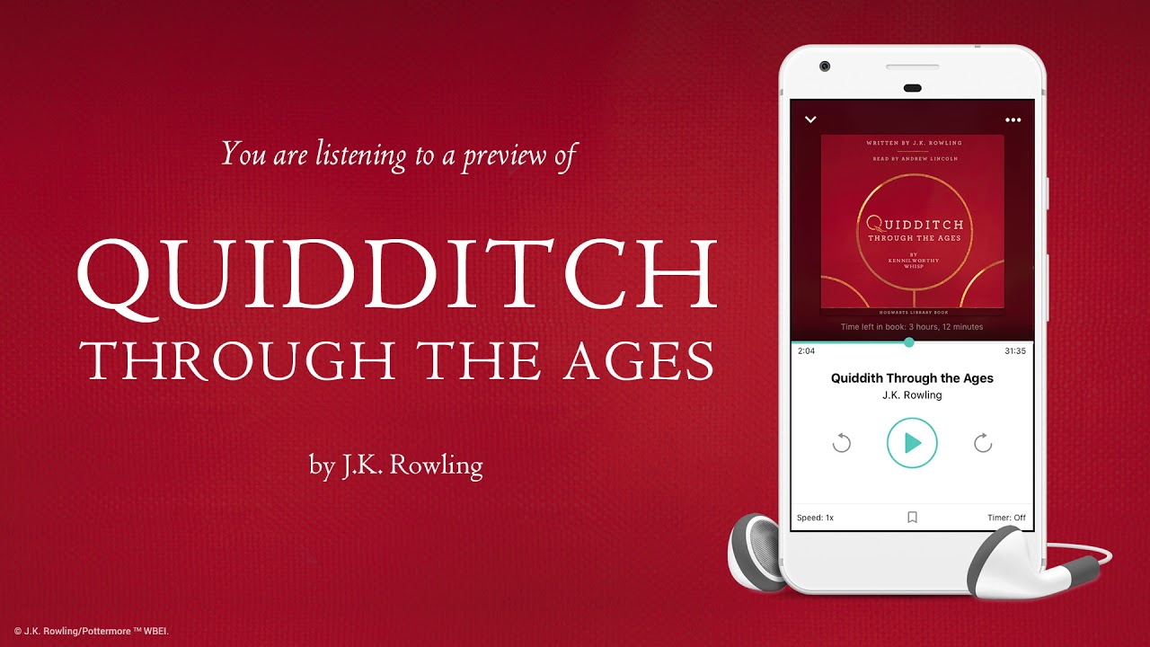 book quidditch through audio the ages