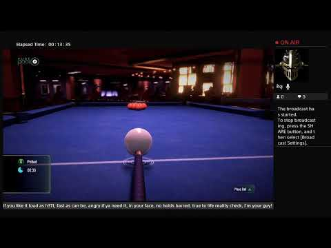 Playing Pure pool  