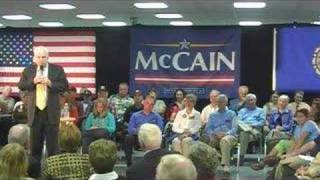 Sen. McCain pledging to arrest the sick and dying--Oct. 23