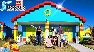 LEGOLAND BEACH RETREAT FLORIDA & WHY IT'S AWESOME! LIFE SIZE LEGO HOUSE + NINJAGO NINJA COURSE!