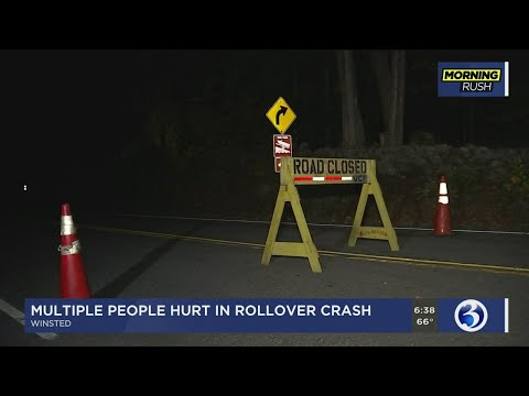 Serious rollover crash under investigation in Winsted