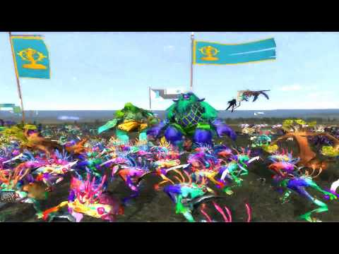 Warcraft: Total War: The Night Elves VS the Naga! (New rosters!)