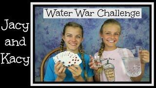 Water War Challenge ~ Jacy and Kacy