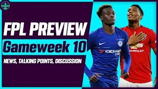 FPL GAMEWEEK 10 PREVIEW | GW10: TIME FOR MAN UNITED PLAYERS? | Fantasy Premier League Tips 2019/20