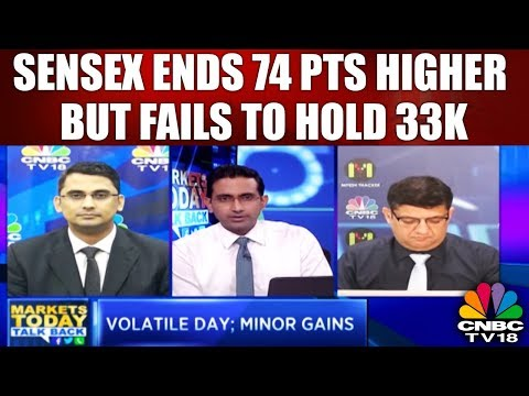 Sensex Ends 74 pts Higher But Fails to Hold 33K; Nifty Gains 30 pts | Market Today Talk Back