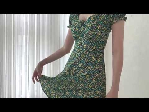 good-bye-summer🌿-asos-try-on-haul-2019-floral-dress