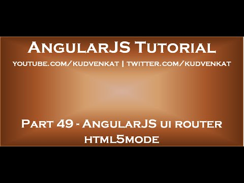 AngularJS Ui Router Html5mode