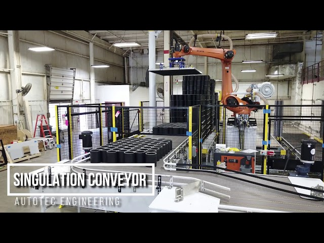 Depalletizer & Singulation Conveyor | Autotec Solutions