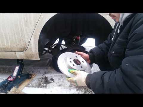 Замена задних тормозных дисков на шевроле круз