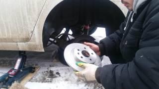 как поменять тормозные диски  колодки на шевроле круз