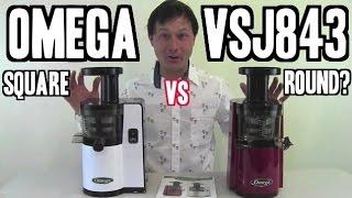 Omega VSJ843 Square vs Round - What