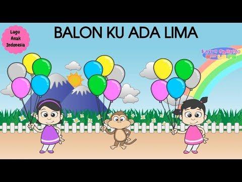 BALON KU ADA LIMA ♥ Lagu Anak dan Balita Indonesia | Keira Charma Fun