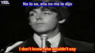 The Beatles - Yesterday ( SUBTITULADA ESPAÑOL INGLES )