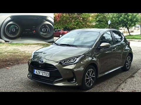 Toyota Yaris 2020 Hybrid 0 100 Km H Acceleration Peritroxon Gr Youtube