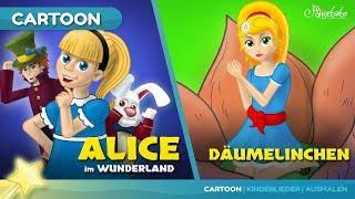 Скачать Alice Im Wunderland Und Däumelinchen Märchen Gutenachtgeschichte Für Kinder
