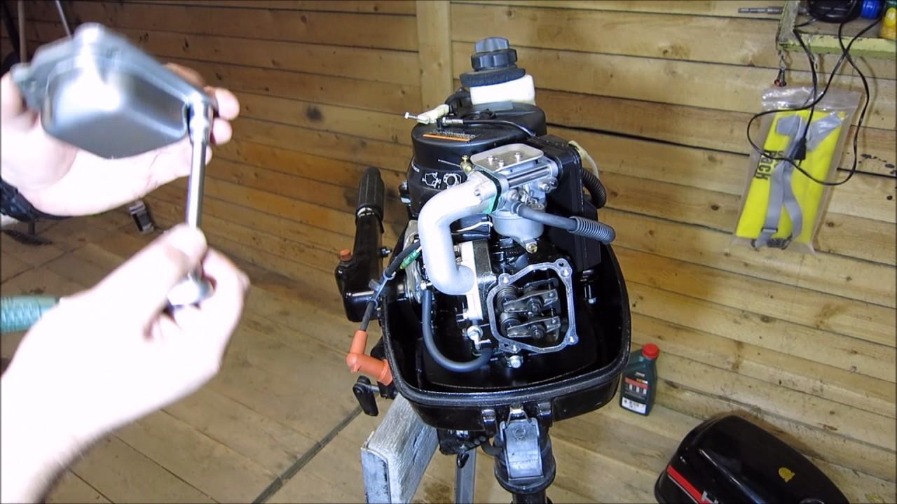 новый лодочный мотор hdx 5л.с 2т и казанка. - YouTube
