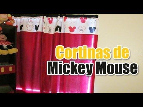 Cortinas de mickey mouse tutorial decoracion del cuarto - Cortinas para cuarto ...
