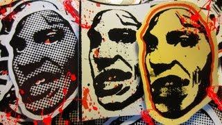Halloween Screen Printed Graffiti Stickers