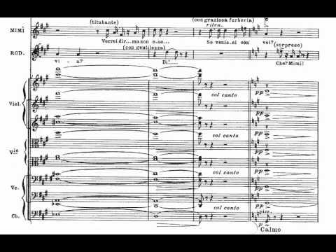 O soave fanciula (La Boheme - G. Puccini) Score Animation