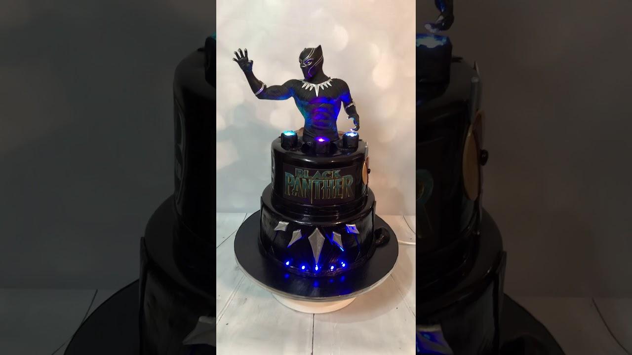 Black Panther Birthday Cake Blackpanther Wakandaforever Cakedaddy Youtube