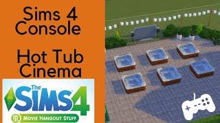 Hot Tub Cinema - Movie Hangout Stuff - Sims 4 Console, Xbox One