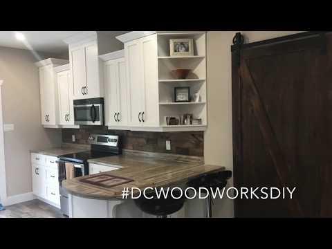 DIY Wooden Backsplash - How to Install