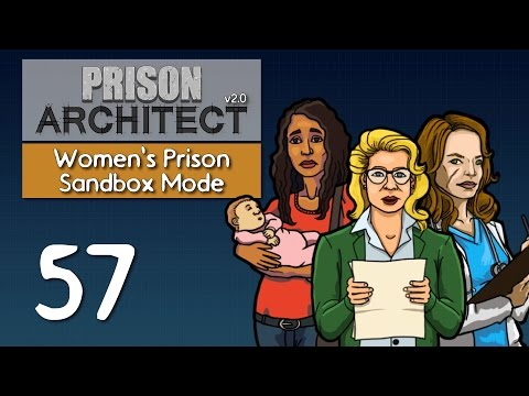 Ep 57 - Redoing the staff rooms (Prison Architect v2.0 - Women's sandbox prison PC gameplay)