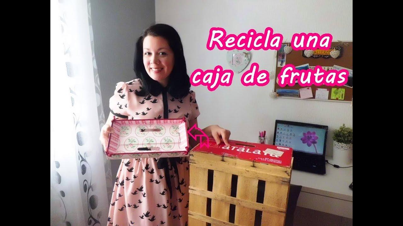 Diy bandeja con caja de frutas youtube - Manualidades con cajas de frutas ...