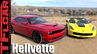 2017 Chevy Corvette Grand Sport vs Dodge Challenger Hellcat Mashup Review: Which One To Buy?