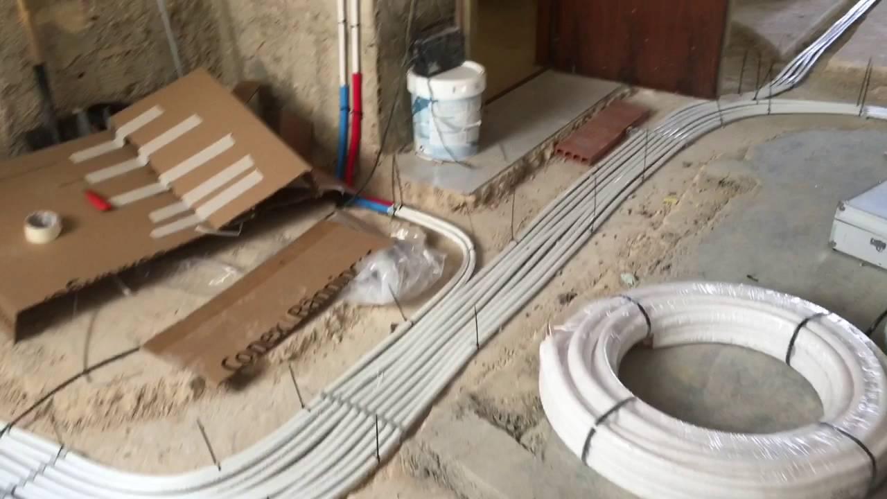Calefacci n por suelo con colector de distribuci n youtube - Calefaccion radiante ...