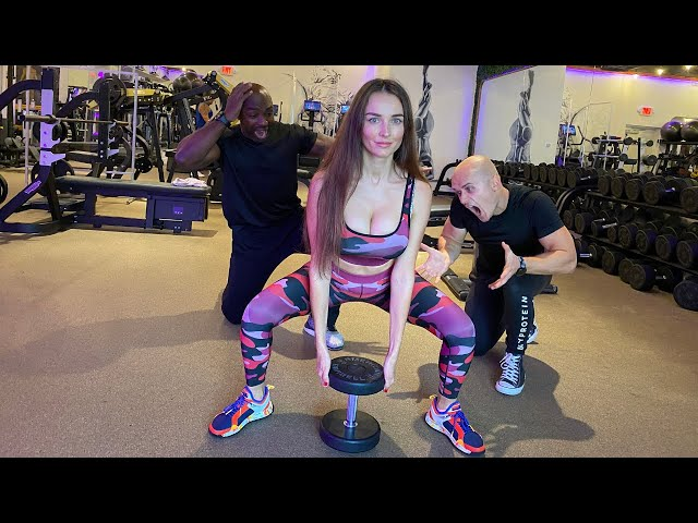 Fit Girl Trapped with Silly Personal Trainers