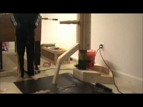 Making the Low Cost but Effective Wing Chun Dummy Part 2 of 2 - Khai Tuong Nguyen