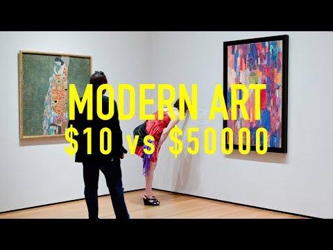 $10 vs $50000 Modern Art