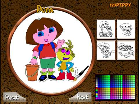 dora en ligne jeu de coloriage dora explorer coloring game for kids