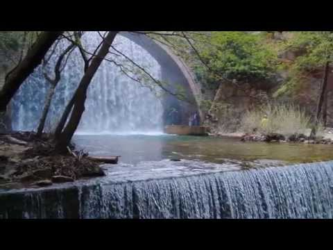 Natural wonders - Bridge and Twin falls near Paleokarya (Greece)
