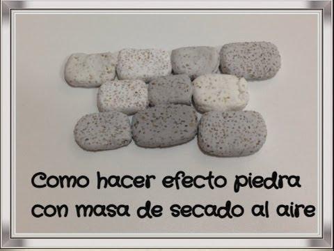 Como hacer efecto piedra en masa fimo arcilla effect mass for Como pintar imitacion piedra