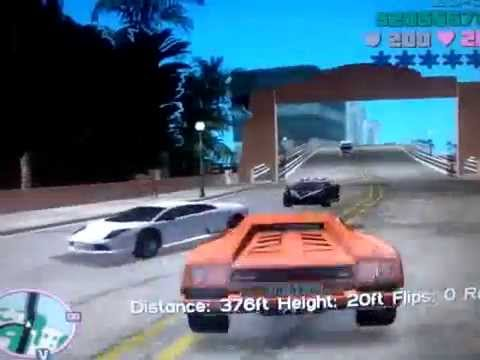 Gta Vice City Hyper Jump With Lamborghini Diablo Youtube