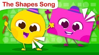 The Shape Song | Learning Shapes and Colors | Nursery Rhymes & Kids Songs by Little Angel