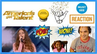 Makayla Phillips 15-Year-Old Receives Golden Buzzer For Warrior - AGT 2018 - REACTION!
