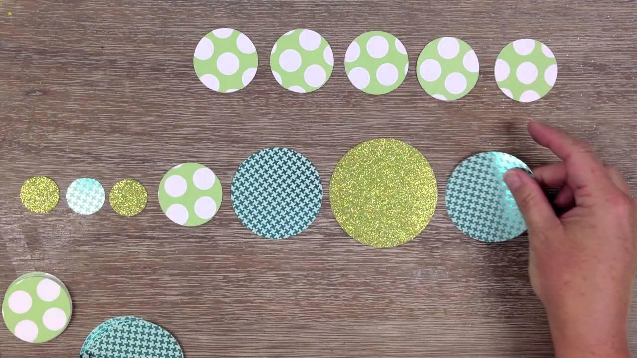 paper circle garland youtube. Black Bedroom Furniture Sets. Home Design Ideas