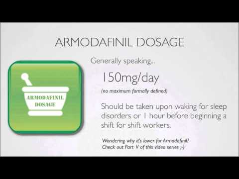 How to Take Armodafinil Properly
