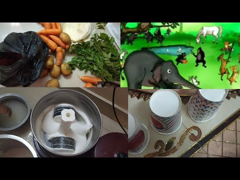 DIML SOFT IDLY BATTER  VEGETABLES CLEANING GUESSING GAME WITH KIDS ONLINE CLASS REVIEW VLOG IN TAMIL