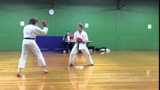 Torakan Karate Black Belt Grading - Will Shearer  - sparing 1