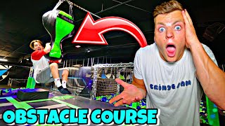 SUPER TRAMPOLINE PARK OBSTACLE COURSE CHALLENGE! *WINNER GETS $10,000*