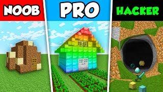 Minecraft NOOB vs PRO vs HACKER : SURVIVAL SHELTER CHALLENGE in Minecraft Animation!